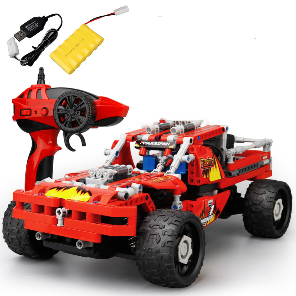 High Speed RC Cars SDL 2017A-6 Building Blocks 2.4GHz 4CH Remote Control 20km/h Toy Vehicle Cross Country Car 431PCS DIY Cars