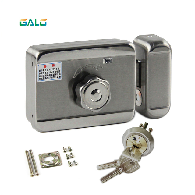 free shipping electronic lock diy kit with DC-12V plug for home door outdoor gate Access Control Video Intercom System