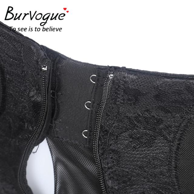 Burvogue Butt Lifter Shapers High Waist Shaper Underwear Slimming Tummy Control Lace Thigh Body Shapers Clips n zipper Shaper