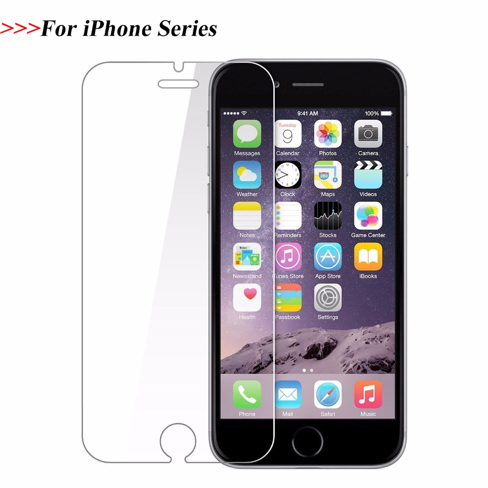 9H Tempered Glass for iPhone 6 7 8 X SE 6S 5S 5 4S Screen