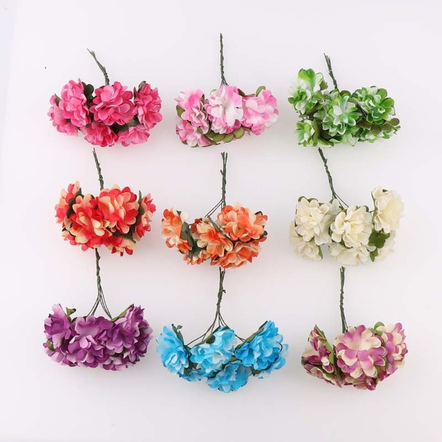 6pcsbunch 3cm two color rose mini artificial hydrangeas paper 6pcsbunch 3cm two color rose mini artificial hydrangeas paper flowers bouquet wedding decoration mightylinksfo