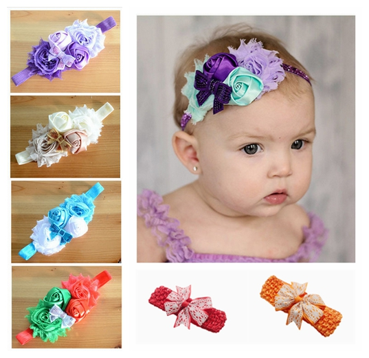 2016 new flower Headband baby sequin bows headband hairband for Newborn Infants Children Hair Accessories Girls   Headwear