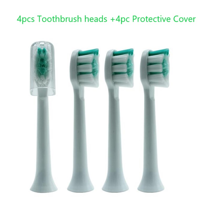 4PCS Generic Electric Sonic Teeth Brush Replacement Fits For Philips Sonicare Toothbrush Heads Proresults Soft Bristles HX6013 image