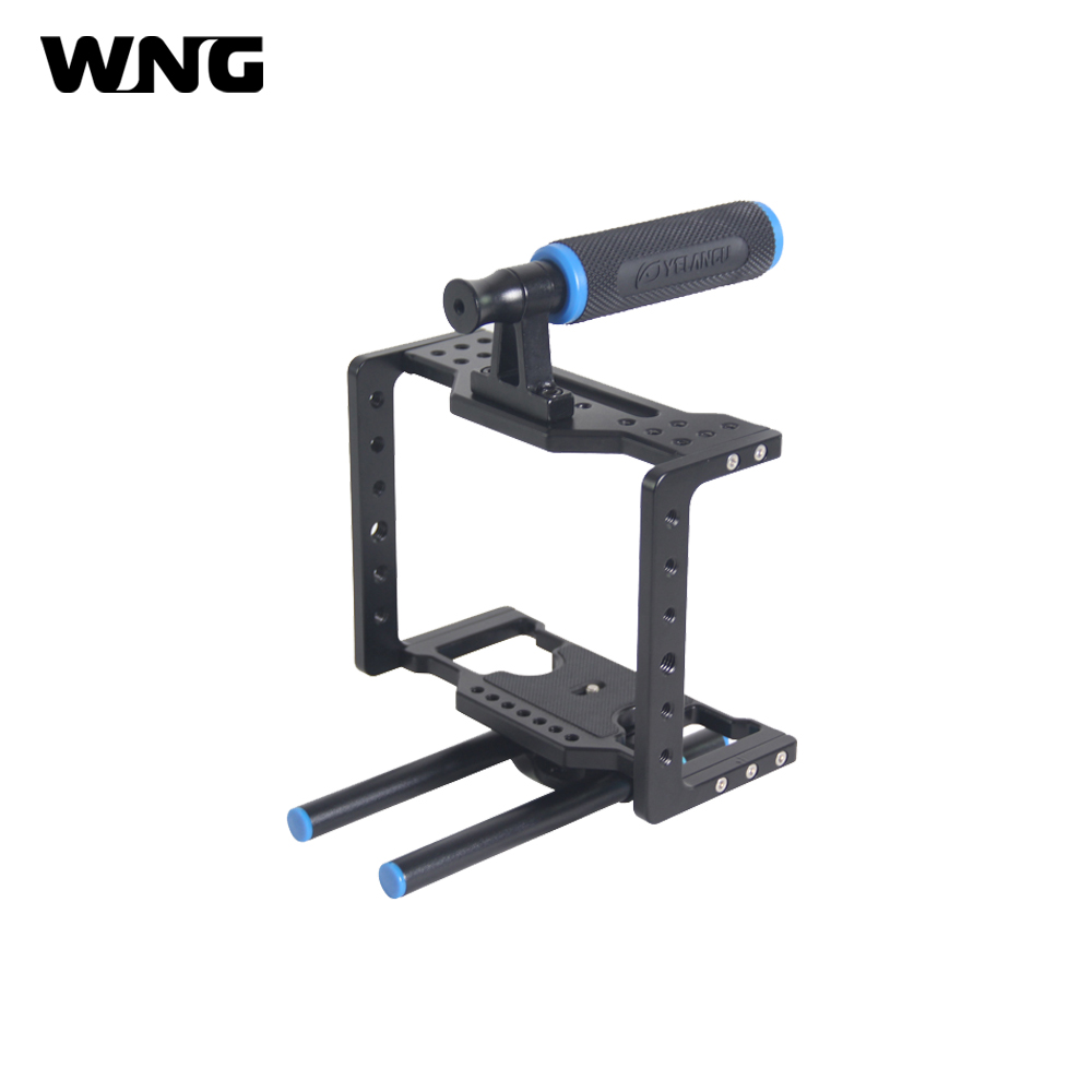 Hand hold DSLR Rig Camera Cage For BMCC Aluminum Lightweight Portable Video Cage Rig for BlackMagic Cinema Camera camera cage rig heavy duty aluminum alloy lightweight dslr camera cage rig for bmcc blackmagic cinema camera