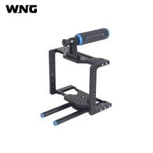 قفص كاميرا DSLR ، حامل يدوي لكاميرا BMCC ، قفص ألومنيوم محمول خفيف الوزن للسينما BlackMagic
