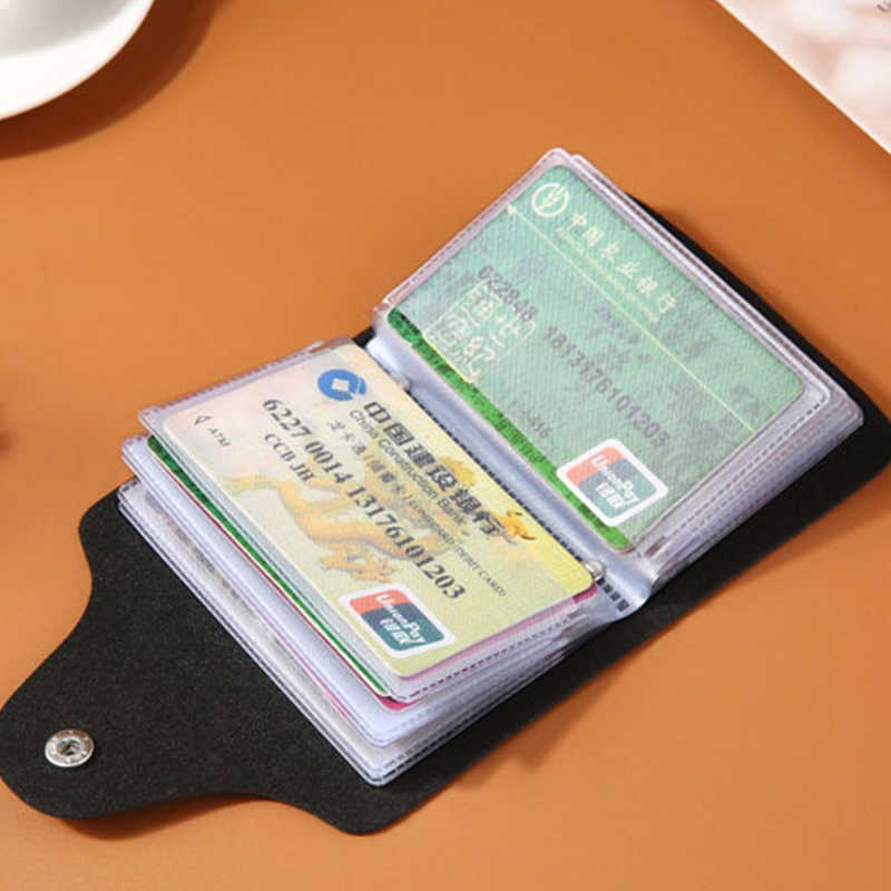 BYCOBECY 2020 פונקציה חדשה ארנק 12 bits מזדמן אשראי כרטיס בעל במקרה כרטיס באיכות גבוהה עבור גברים ונשים PU וו חבילה