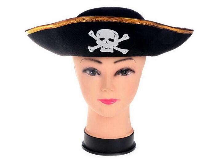 Halloween pirate accessories Fu game pirate captain dress up pirates Pirates of the Caribbean the captain cap performance cap chifres malevola png