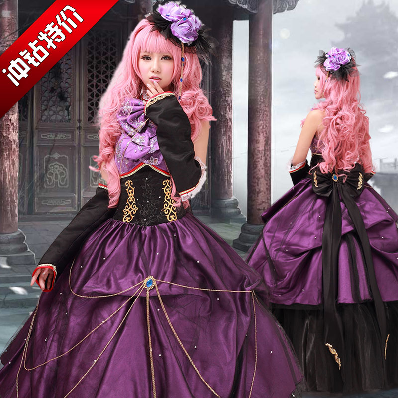 Vocaloid Megurine Luka cosplay costume for women medieval gothic dress adult anime clothes for girls custom