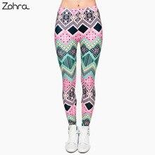 Zohra Brand New Fashion Aztec Printing legins Punk Women's Legging Stretchy Trousers Casual Slim fit Pants Leggings