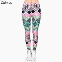 Zohra New Fashion Brand Aztec Pink 3D Full Print Leggings Punk Women S Fitness Legging Stretchy