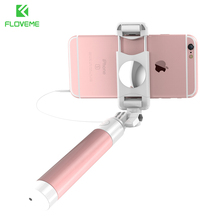 FLOVEME Universal Mini Selfie Stick 360 Rotatable Foldable Portable Extendable Wired Self Stick For iPhone Samsung Huawei Xiaomi