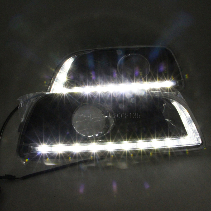 Высокое качество диммер и клыки замена стиль 12В СИД автомобиля DRL дневные ходовые свет для Шевроле Малибу 2012-2016