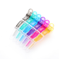 6 Pcs Hair Clips Mouth Professional Hairdressing Beak Sectioning Clips Crocodile Hairpins Salon Hair Care