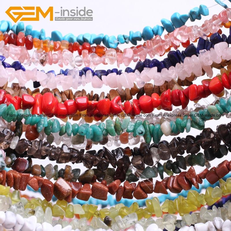 Gem-indide 7-8mm prirodni kamen perle 34inch Chips perle za izradu - Modni nakit - Foto 2