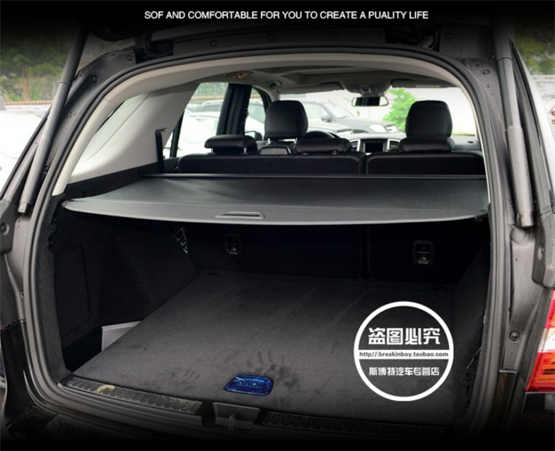 BYWWANG pour Mercedes Benz GLK 300 Voiture Style Coffre arri/ère Couverture de Cargaison /étag/ère /à Colis Rideau Accessoires de Rangement r/étractables