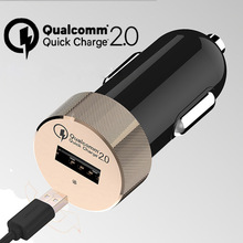 3 Colors USB Car Charger Quick Charge 2 0 Adapter for Samsung Galaxy S6 HTC M9