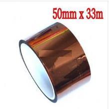 Высокая Температура термостойкость высокая температура для 3D-принтеры тепла Клейкие ленты 50 мм x 33 м BGA PCB SMT пайки Экранирование