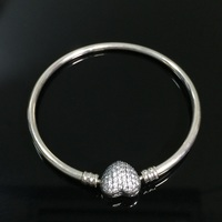 authentic 100% 925 Sterling Silver Ring Bracelets for women jewelry gift fit pd beads&charms