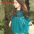 chifave 2016 New Spring Summer Autumn Girls Dress Fashion Children Tutu Dress Long Sleeve Soft Cotton Kids Girls Princess Dress