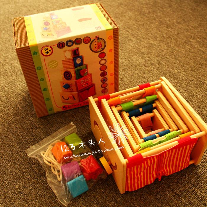 ФОТО Baby Toys Montessori Teaching Toys 5 Activity Stackers Kids Fine motor Training Educantional Toys Christmas toys gift