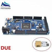 1PCS Due R3 Board ATSAM3X8E ARM Main Control Board With 1 Meter Usb Cable White Color