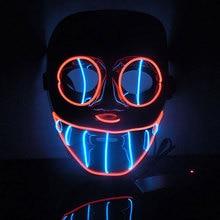 2016 Новый Год Flash El Wire Светодиодные Светящиеся Салон Рождественской Вечеринке Маска Горячей Продажи