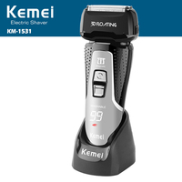 100 240v Kemei Rechargeable Electric Shaver Powerful Beard Shaver Washable Electric Razor Men Shaving Machine Trimmer