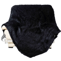 CX D 16A/X 150X200CM Black Knitting Style Custom Made Hand Knitted Rabbit Fur Rugs ~ DROP SHIPPING