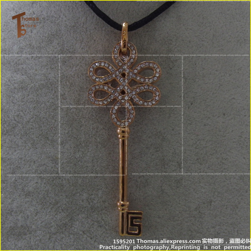 PT1468 Necklace Knot Key Pendant Euro-American style Glam And Soul Fashion Lovers Jewerly For Women In Rose