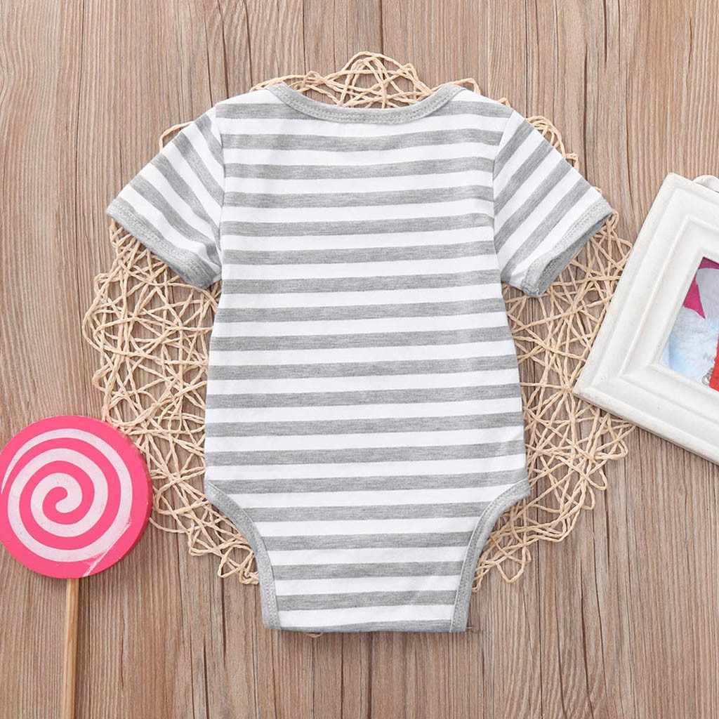 New baby tights striped print bottle short-sleeved boy suit overall cotton infant girl jumpsuit newborn clothes