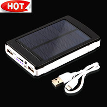 NEW 15000mAh Portable Solar Power Bank Mobile Battery Charger Dual USB For Smartphone PDA MP3 Camera LED light