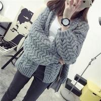 Ladies Sweater Cardigan Coat Korean Spring New Spring Lantern Sleeve Loose Short Sweater Size
