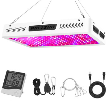 Phlizon led grow light 1800W full spectrum plant light panel led for indoor plants seeds flower, 6500k fito led