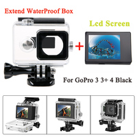 Gopro Hero 4 3 Lcd Monitor Bacpac Lcd Screen 45 M Waterproof Housing Case Extended Backdoor