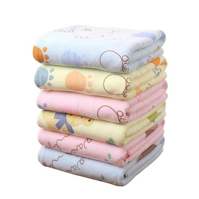 Ventas calientes del envío libre fibra extrafina towel belleza cabello seco towel impresión de la historieta de los niños de fibra extrafina towel