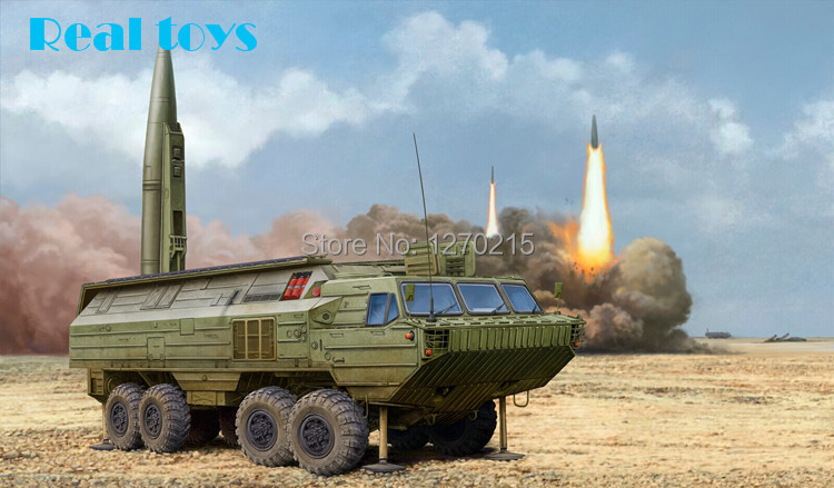 Hobby Boss 1/35 85505 Soviet SS-23 Spider Tactical Ballistic Missile plastic model kit limit discounts trumpeter model 1 35 scale military models 01019 soviet 9p117m1 launcher w 9k72 missile elbrus model kit