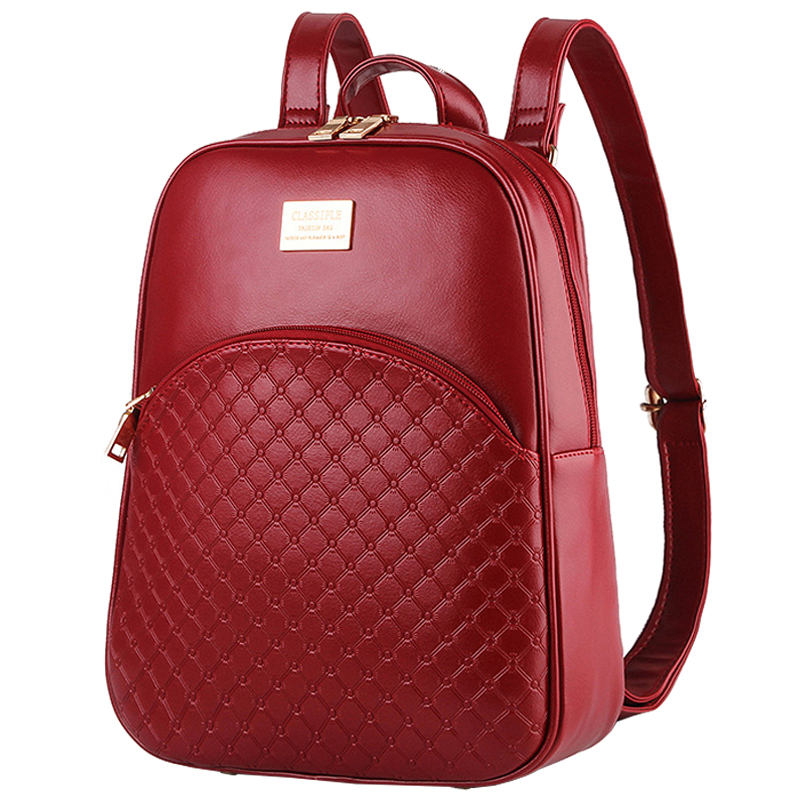 Women Shell Backpack College Wind Dual use Bags