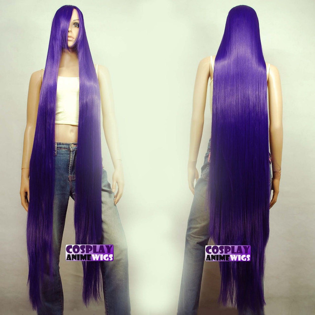 150cm Dark Purple Styleable Extra Super Long Cosplay Wigs
