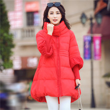 Cotton Padded Jacket Women New Winter Coat Women Rib Sleeve Jackets Female Long Parkas Cloak Style Overcoat Jacket C1221