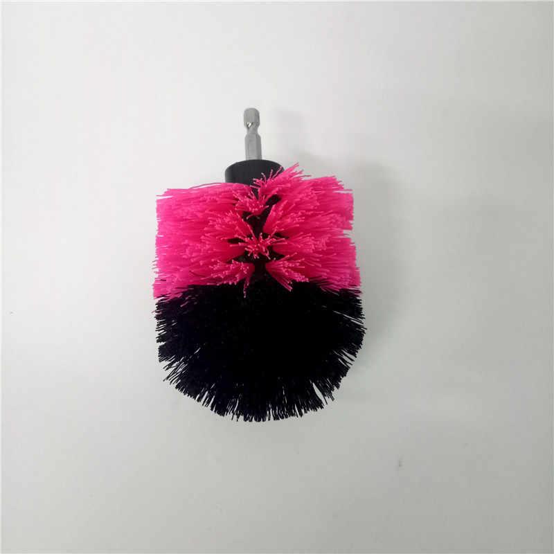 2 قطعة الوردي الحفر فرشاة الطاقة فرك الحفر فرشاة نظيفة فرشاة تستخدم على الحفر الكهربائية للسجاد أريكة جلدية البلاستيك خشبية