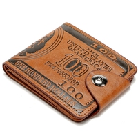 New Vintage Men Wallets Short Brand Design Men S Wallet Mini High Quality PU Leather Small