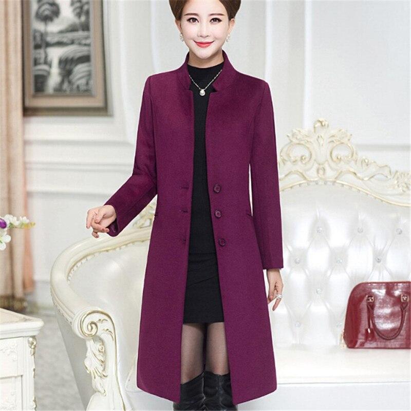 Nouveau Wine Couleur gules Long Pure Vêtements Et red Gray De Blue D'hiver Femmes navy Laine Grand Cachemire Automne violet Manteau 2018 Veste Xqw1AA