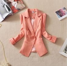 Fanmuer 2017 Female suit women blazer elegant three quarter sleeve blazers woman outerwear women clothes women summer jacket