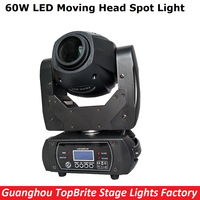 60W LED Moving Head Spot Stage Lighting 10 12 DMX 512 Channel Hi Quality Big Discount