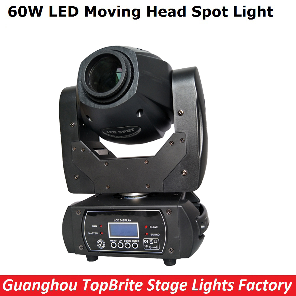 60W LED Moving Head Spot Stage Lighting 10/12 DMX Channel Hi-Quality Big Discount 60W Led Moving Head Beam Light AC110-220v 2017 hot 30w spot gobo moving head light led moving head spot stage lighting disco light professional stage