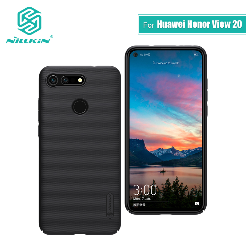 For huawei honor view 20 case cover 2019 6.4'' NILLKIN Frosted PC Matte hard back cover Gift Phone Holder for huawei honor v20