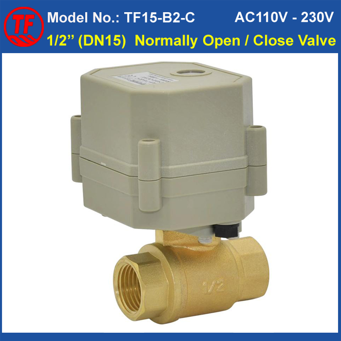 High Quality AC110-230V 2 Wires Normally Open/Closed Valve BSP/NPT 1/2'' (DN15) Brass Valve For HVAC Water Application