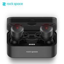 Best price ROCKSPACE TWS Headset Portable Mini Wireless Earphone Stereo Earbuds Bluetooth Earphone For iPhone With Charger Box Ear bud