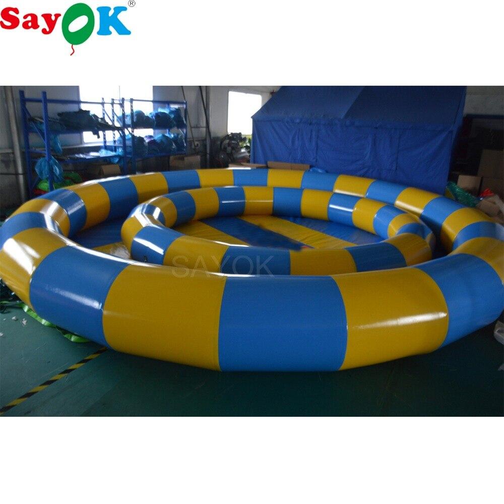 Sayok 3 м/6 м Диаметр ПВХ надувной плавательный бассейн воды в бассейне игры с воздушным насосом для детей и взрослых играть забавная