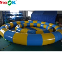 Sayok 3m/6m Diameter PVC Inflatable Swimming Pool Water Pool Game with Air Pump for Kids Adults Play Funning